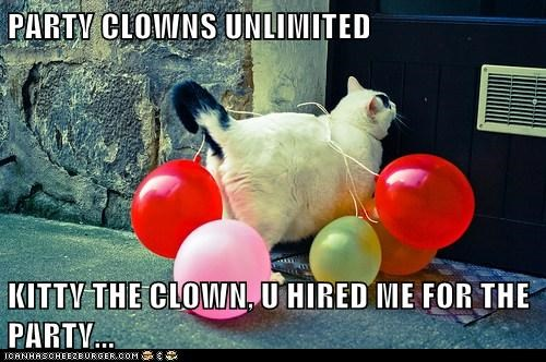 PARTY CLOWNS UNLIMITED  KITTY THE CLOWN, U HIRED ME FOR THE PARTY...