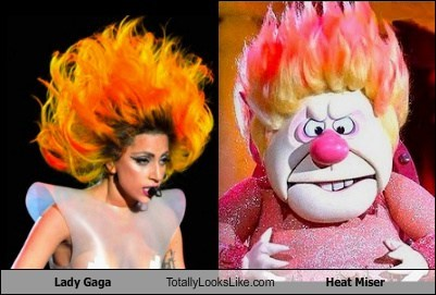Lady Gaga Totally Looks Like Heat Miser