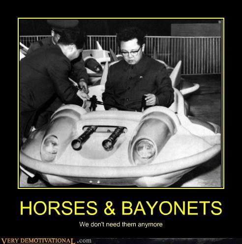 horses,bayonets,Kim Jong-Il