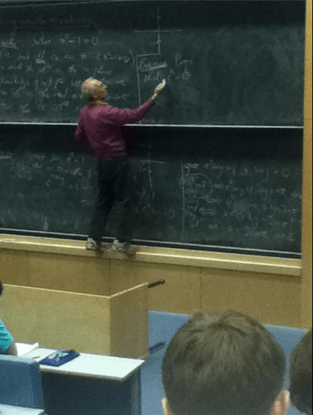 Who Would Put a Chalkboard That High Up?!