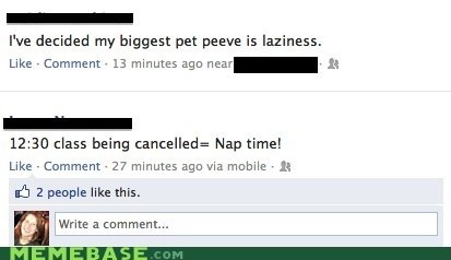 pet peeves,facebook,nap time,school