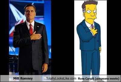 Mitt Romney Totally Looks Like Russ Cargill (simpsons movie)