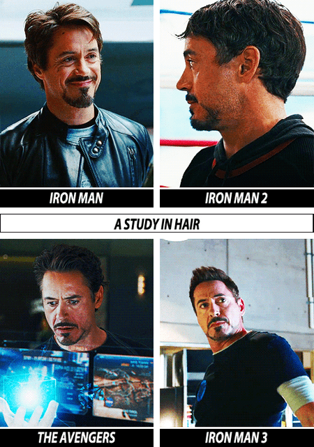 Tony Stark: a Study in Hair
