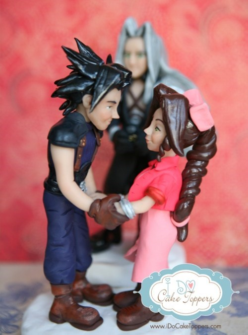 cake topper,final fantasy,characters