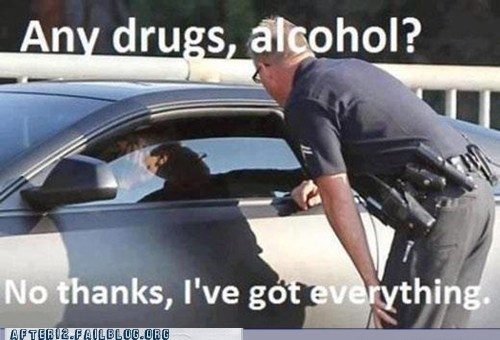 pop the trunk,drugs,alcohol,pulled over,no thanks