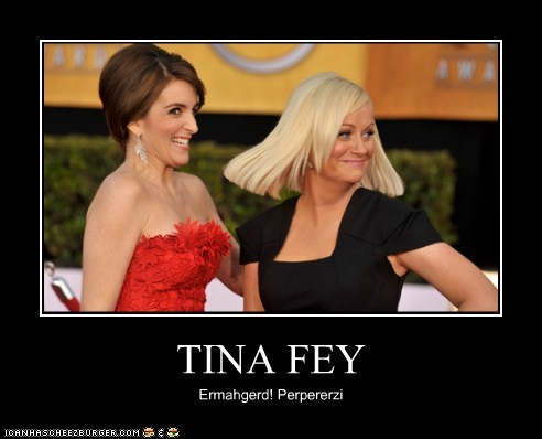 funny,actor,celeb,tina fey,Amy Poehler,demotivational