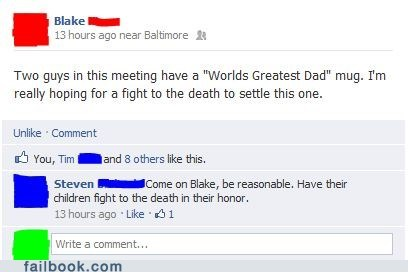 dads,cagefight,worlds-greatest-dad,fight to the death,Father
