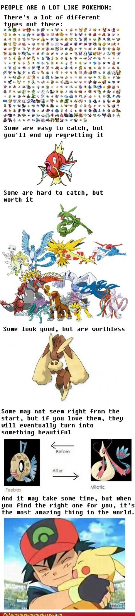 People are a lot like Pokemon