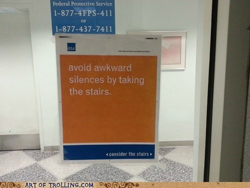 There are No Trapped Farts in the Stairwell