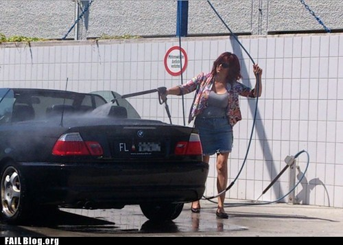 Washing the Car FAIL