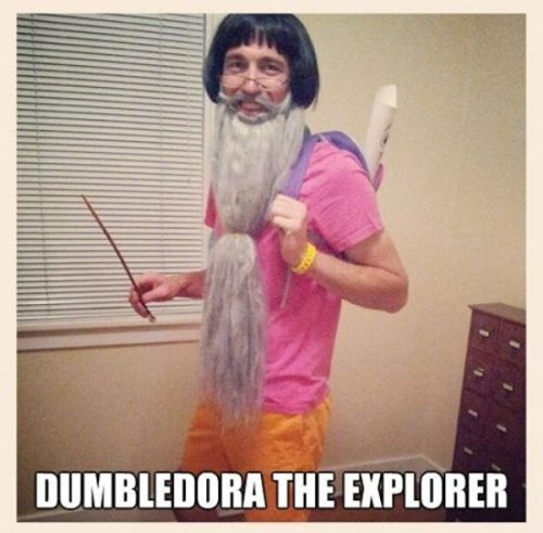 dumbledore,dora the explorer,halloween mashup