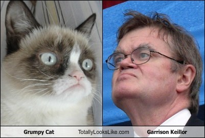 Grumpy Cat Totally Looks Like Garrison Keillor