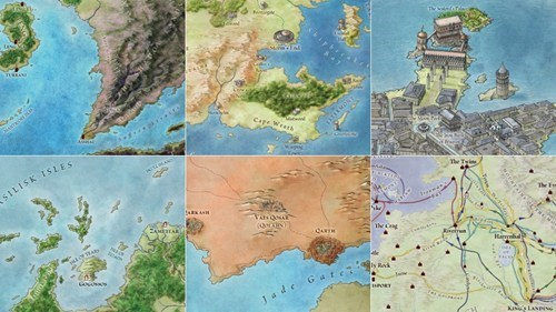 Finally, Official 'Ice And Fire' Maps of the Day