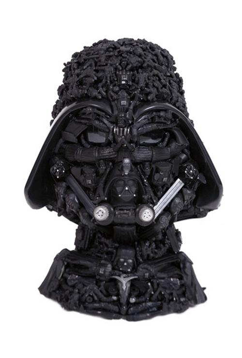 Darth Vader Made Out of Used Darth Vader Toys