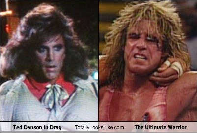 Ted Danson in Drag Totally Looks Like The Ultimate Warrior