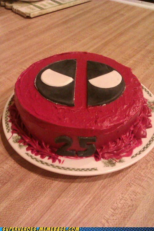 Deadpool Cake is Deadpool-y