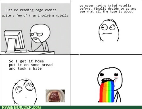 puke rainbows,nutella,noms