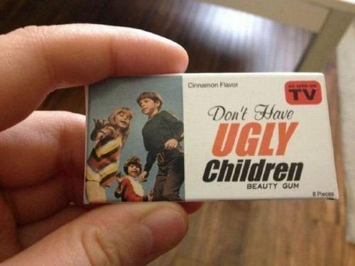 gum,ugly children