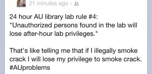 crack,lab rules,After Hours,privileges