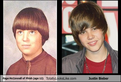 Page McConnell of Phish (age 12) Totally Looks Like Justin Bieber