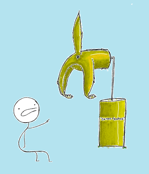 giant,cat,ass,trophy,catastrophe,homophones,literalism,double meaning