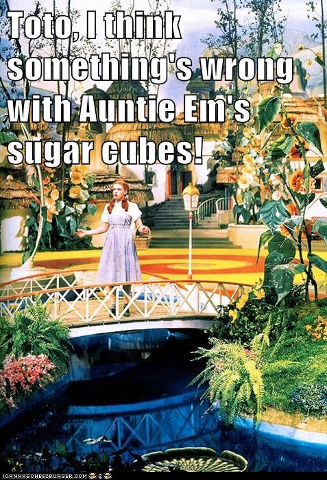 Toto, I think something's wrong with Auntie Em's sugar cubes!