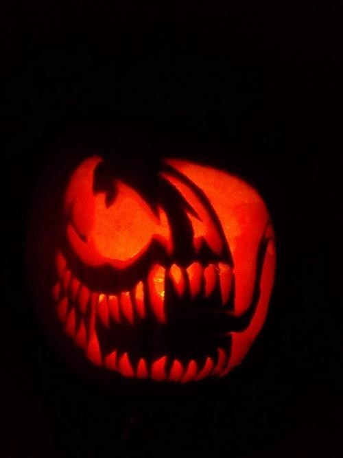 pumpkins,Venom,art,awesome,halloween
