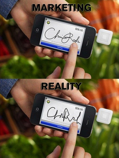 marketing vs reality,smartphone,phone,signature,iphone