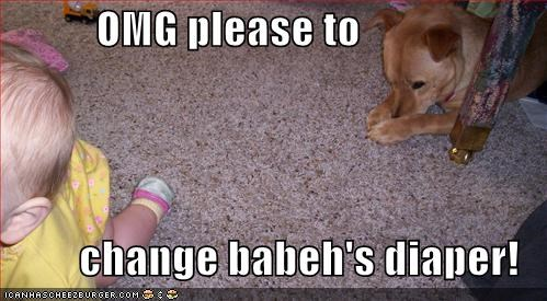 OMG please to           change babeh's diaper!