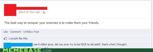 enemies,facebook,hitler