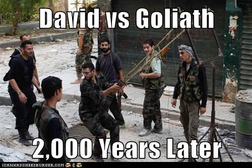 David vs Goliath  2,000 Years Later