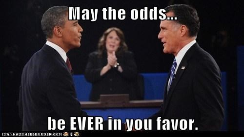 elections,may the odds,Mitt Romney,debate,candy crowley,hunger games,barack obama