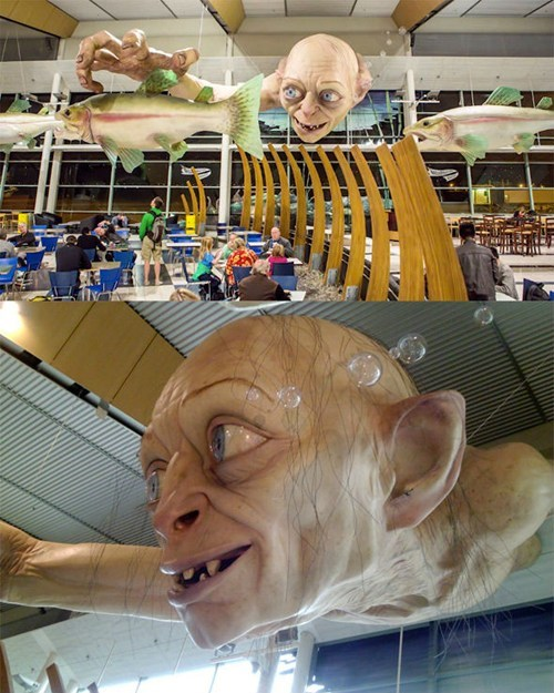 New Zealand's Giant Airport Gollum of the Day