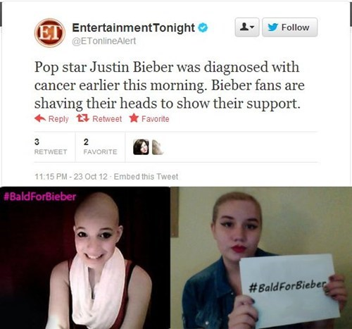 Bieber Fans are Easily Trolled