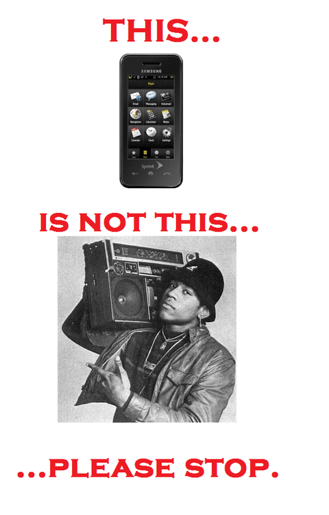 Unless You Have Your Phone Connected To A Retro Boombox Case
