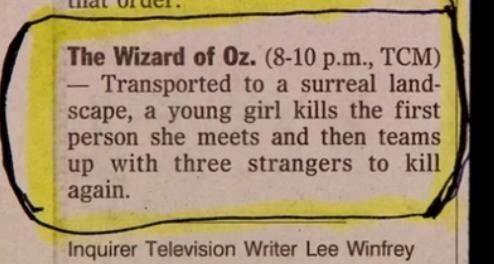 wizard of oz,movie reviews,newspaper