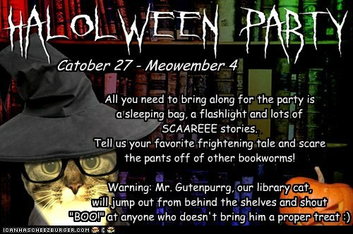 Invitation to the Book Club's HaLOLween Party!