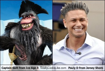 Captain Gutt from Ice Age 4 Totally Looks Like Pauly D from Jersey Shore