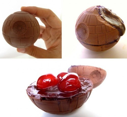 candy,star wars,cherries,Death Star,chocolate