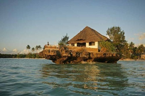 A Restaurant on the Rocks in Zanzibar