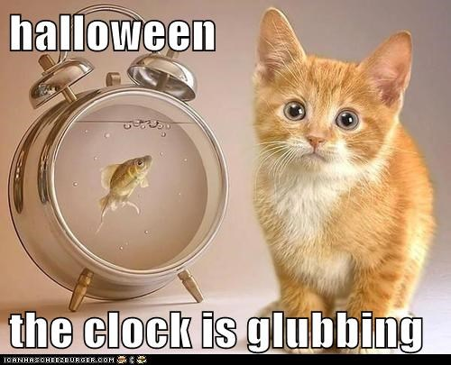 halloween  the clock is glubbing