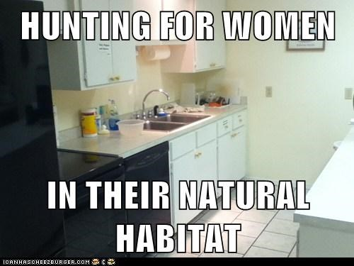 HUNTING FOR WOMEN  IN THEIR NATURAL HABITAT