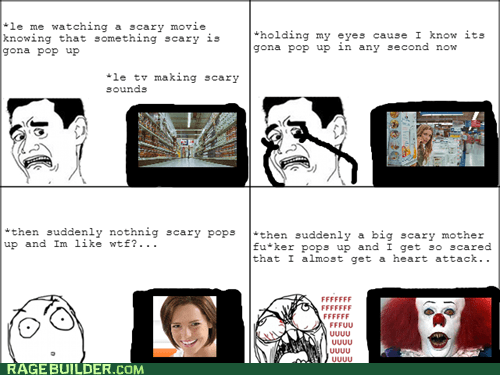 Happens to Me All the Time When I'm Watching a Scary Movie