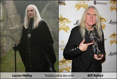 Jason Isaacs as Lucious Malfoy Totally Looks Like Biff Byford