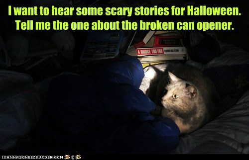 I want to hear some scary stories for Halloween.