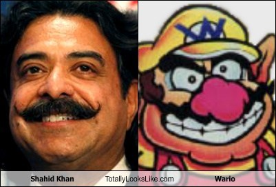 Shahid Khan Totally Looks Like Wario