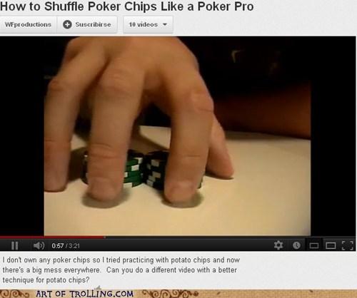 potato chips,youtube,poker chips