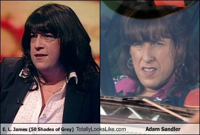 E.L. James (50 Shades of Grey) Totally Looks Like Adam Sandler