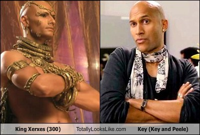 King Xerxes (300) Totally Looks Like Key (Key and Peele)