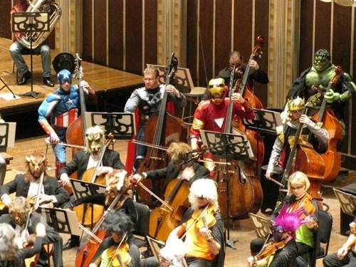 marvel,halloween,The Avengers,iron man,captain america,orchestra